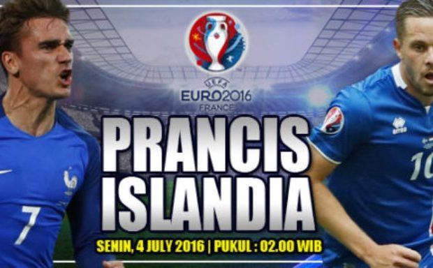 Prediksi Skor Prancis vs Islandia 4 Juli 2016 Laga Terakhir