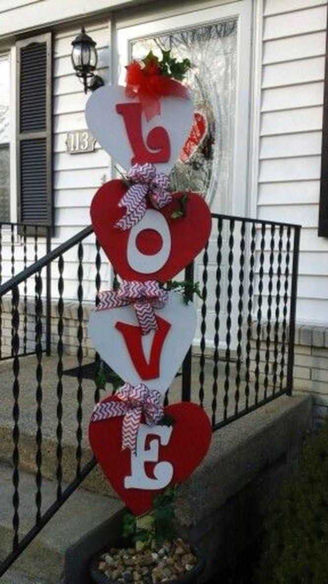 Lovely Valentine Yard Decoration Ideas 11 Diy Dia Dos Namorados
