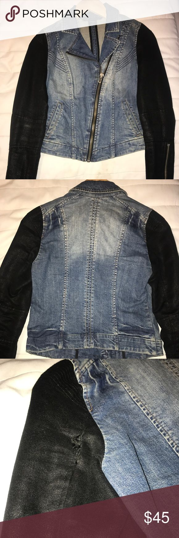 Armani Exchange Women's Jean Jacket Fitted Jean Jacket. Minor stitching needed towards the back of armpits. Armani Exchange Jackets & Coats Jean Jackets