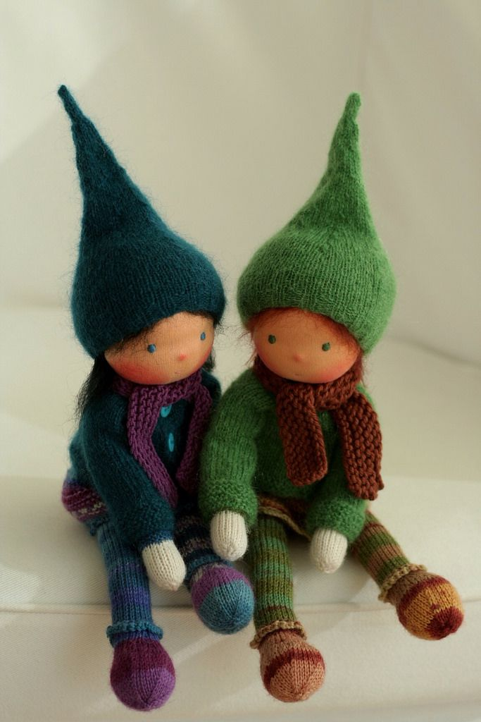 "Knitted Waldorf dolls 13"" by Peperuda dolls   www.etsy.com/s…   Flickr"
