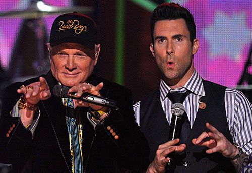 Beach Boys reunite at the Grammys, perform with Maroon 5 and Foster the People (but not John Stamos)