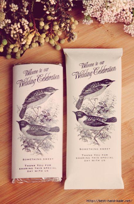 Винтажные шоколадки для свадебных церемоний