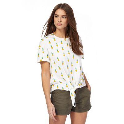 Red Herring Ivory pineapple print t-shirt | Debenhams