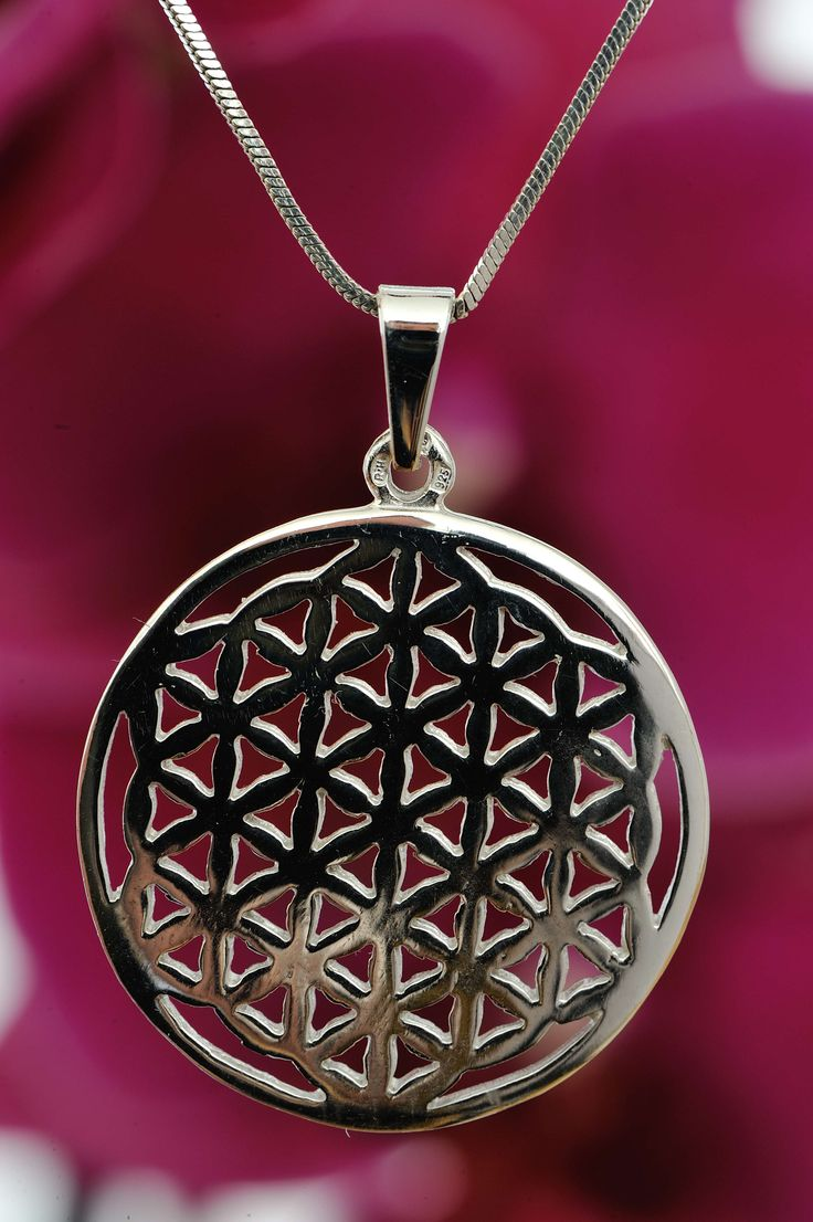 Flower of life - Connecting with the source, silver pendant | Květina života - Propojení se zdrojem