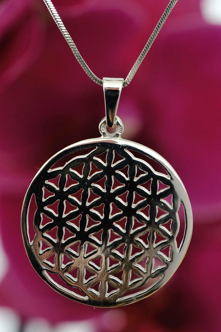 Flower of life - Connecting with the source, silver pendant | Květina života - Propojení se zdrojem