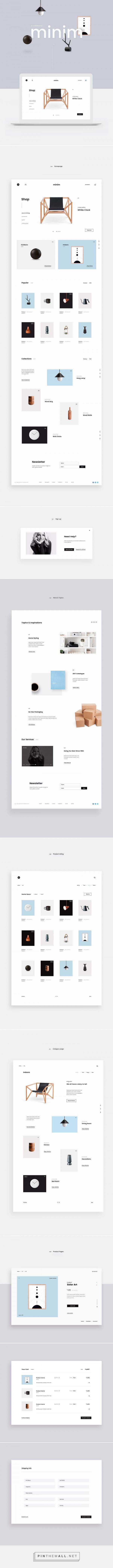 Minim E-commerce Website / Web Design / Interaction / UI Design / UX Design / E-Commerce / Furniture / Interior Design / E-Shop / Minimalist / Minimal / Inspiration / Ideas / Layout / Trend / Interior / Business / Beautiful / Modern / Clean / Navigation / White Space