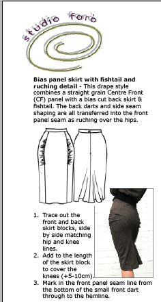 Learn to make interesting Skirt Patterns - Drape Skirt Patterns Workshop book online - http://www.studiofaro.com/industry/draped-skirts