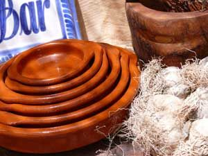 Cazuela nest consisting of six terracotta cazuelas for serving tapas and cooking, inspirational Spanish terracotta cookware ideas - buy online from Spain!
