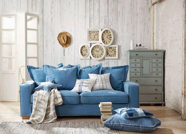 25 best Denim sofa ideas images on Pinterest | Home ideas, Living ...