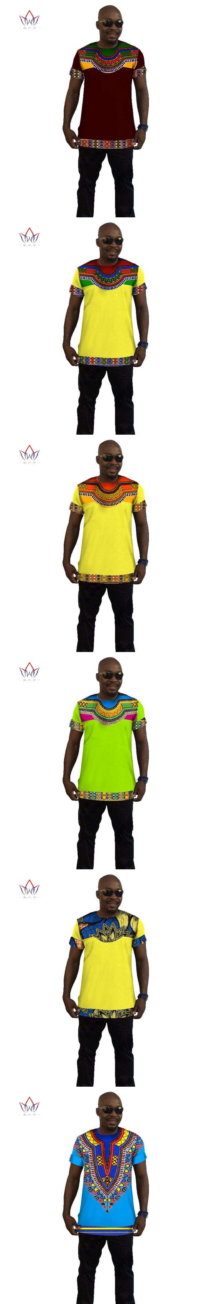 Summer Short Sleeve t Shirt Men 6XL Mens African Clothing Dashiki African Print T Shirt Mens Tops Tees Brand Fashion Shirt WYN42