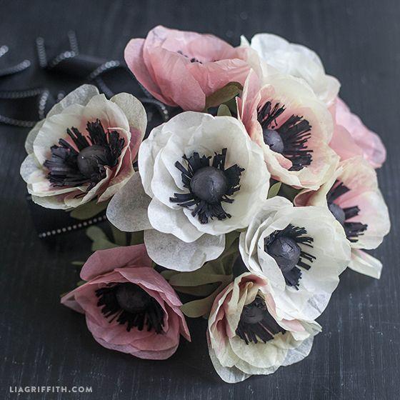 DIY Tissue Paper Anemone   Tutorial