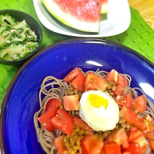 ブランチ。 午後も頑張るゾ(๑′ᴗ‵๑) - 53件のもぐもぐ - トマト納豆ぶっかけ蕎麦 by TAREMEGUMA