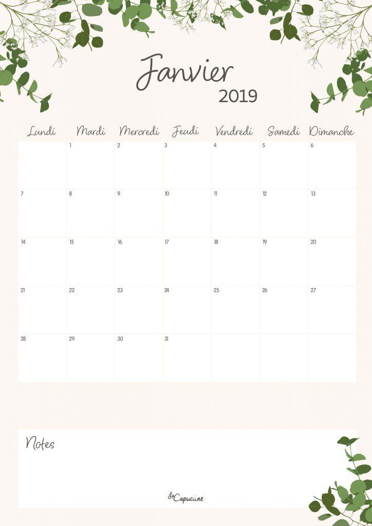 Calendrier Francais 2019.Calendrier Janvier 2019 Calendrier Janvier Calendrier
