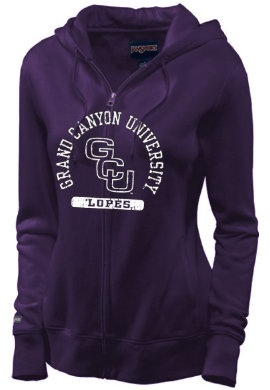 Grand Canyon University Antelopes Women's Full-Zip Hooded Sweatshirt