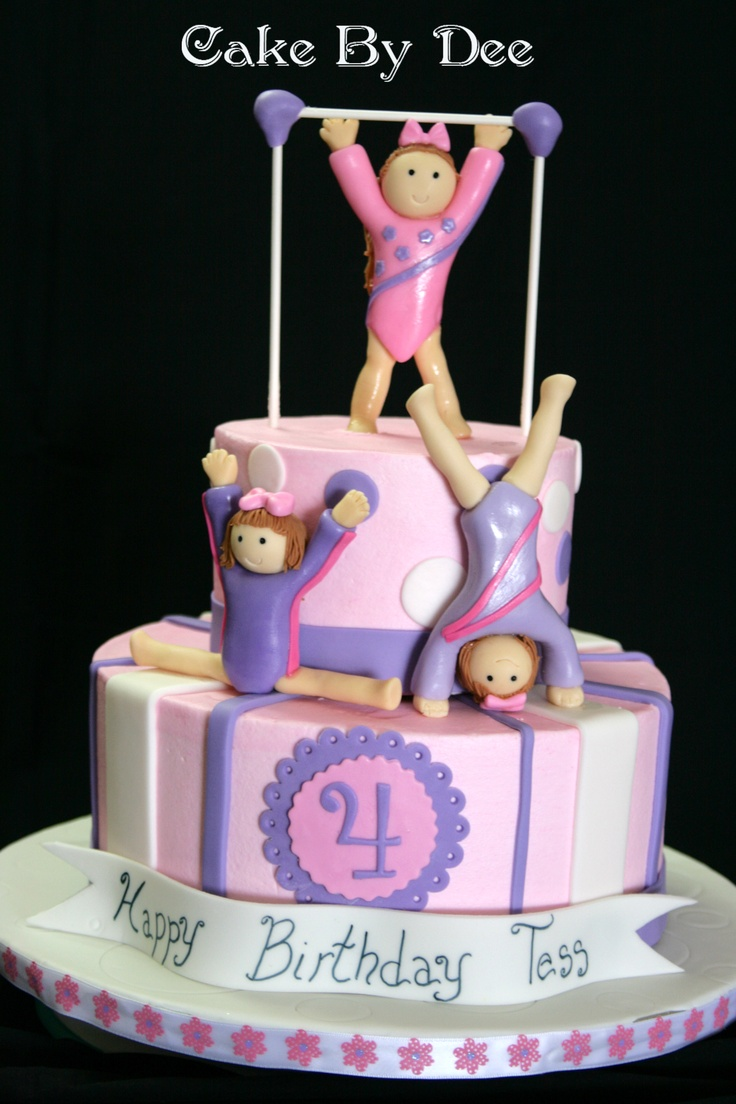 Gymnast Birthday Cake