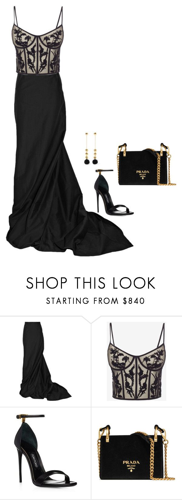 """Sem título #1977"" by mprocedi on Polyvore featuring moda, Rick Owens, Alexander McQueen, Prada e Elizabeth and James"