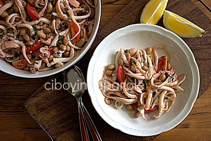 Insalata di moscardini e fagioli #ricetta di @annamolino