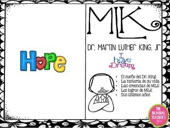Martin Luther King in Spanish Here's a great story in Spanish about MLK.   This short book with information about MLK's life in Spanish is a great source of data for your students that includes everything you need to keep them busy for the entire week.