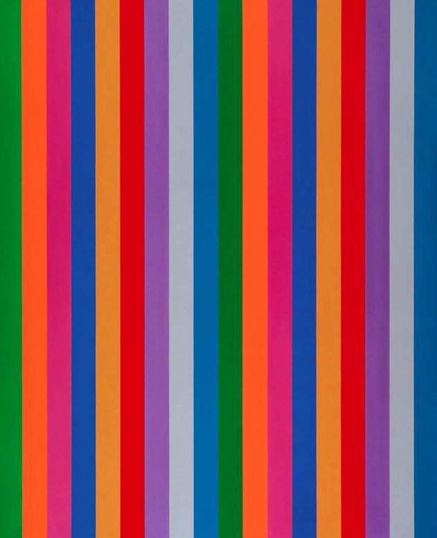 Guido Molinari (1933-2004), 1967, Bi-sériel vert-bleu, Acrylic on canvas. (Canadian artist)