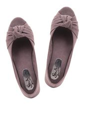Knot Inspired Peep-Toe Ballerinas