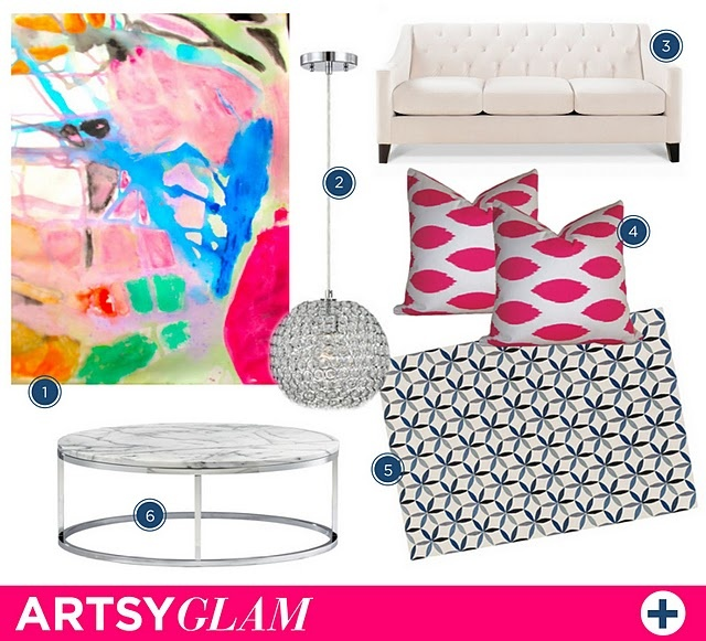 artsy glam #art #couch #coffeetable #pillow #rug #pendant #lighting: Glam Art, Chloe Couch, Living Rooms, Couch Coffeet, Artsy Glam, Pillows Rugs, Art Couch, Rugs Pendants, Coffeet Pillows