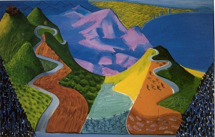 David Hockney - Pacific coast - Highway and Santa Monica