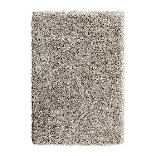 GÅSER Rug, high pile IKEA Its high pile creates a soft surface for your feet and also dampens sound.    I would love to put this in front of the KIVIK couch set. Plus its super fluffy.