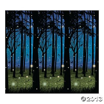 Enchanted Forest Scene Setter  backdrop for photos from Oriental Trading. $16  30ft X 4ft