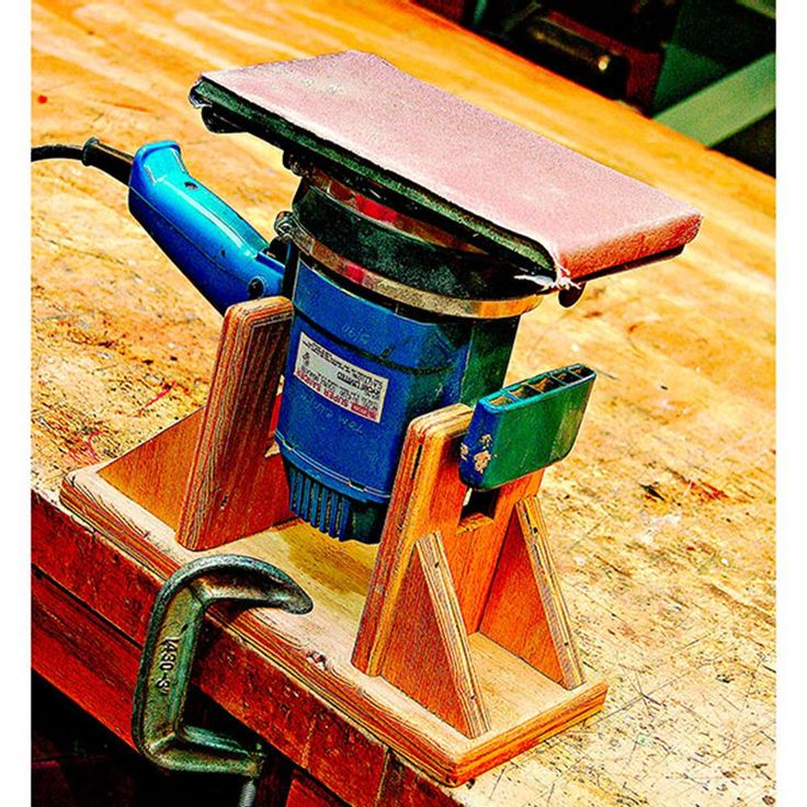 Inverted Sander Stand Woodworking Plan from WOOD Magazine