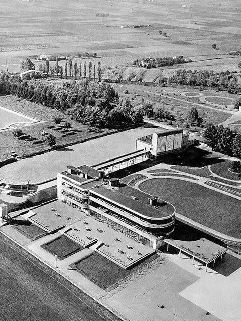Horse racing track Służewiec, Warsaw. Architects:Zygmunt Plater-Zyberk, Juliusz Żórawski