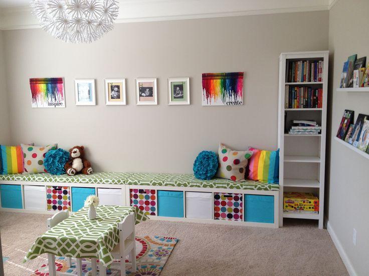 25+ best playroom bench ideas on pinterest | kids storage bench