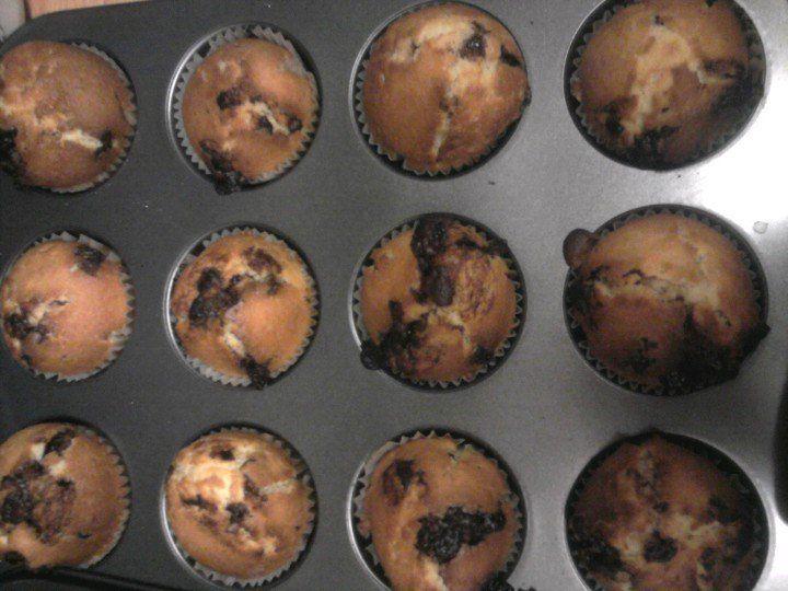 Muffiny  plné  čokolády
