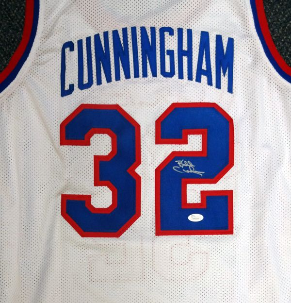 Philadelphia 76ers Billy Cunningham Autographed White Jersey JSA