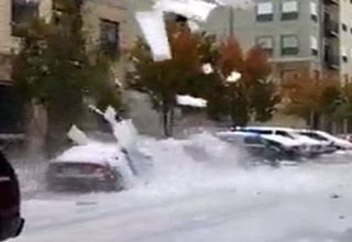 Falling Ice Hammers Car