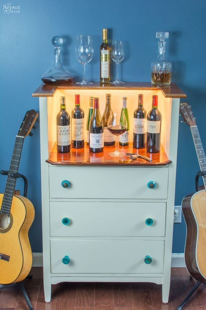 furniture repurposed. Turn An Old Chest Into A Classy Wine Bar Furniture Repurposed