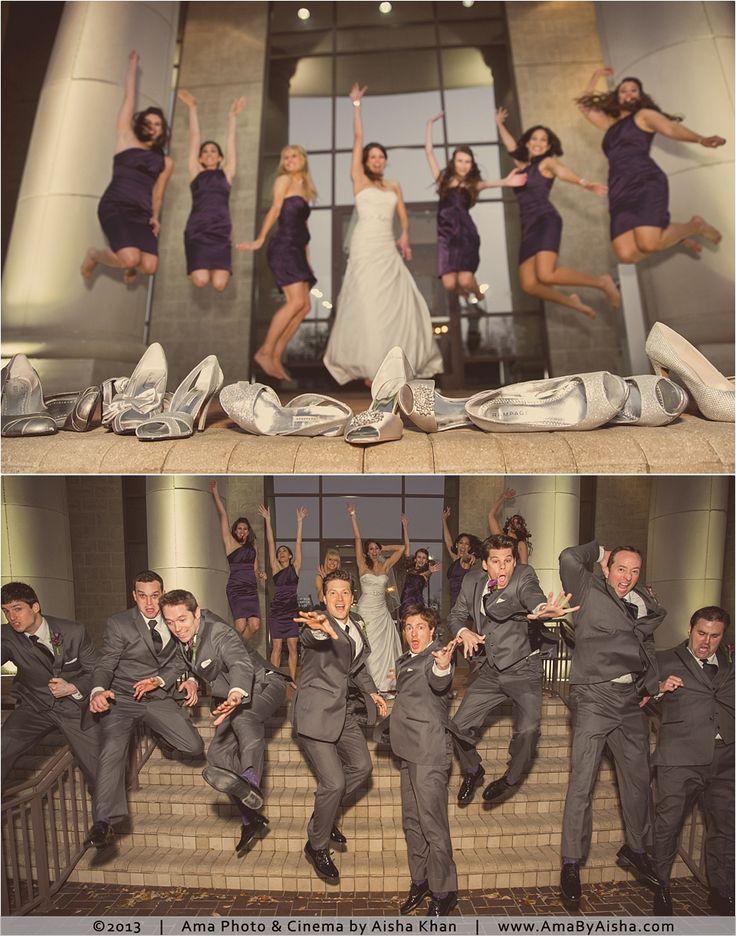 ©2013   www.AmaByAisha.com   Houston Wedding   Fun wedding party shot