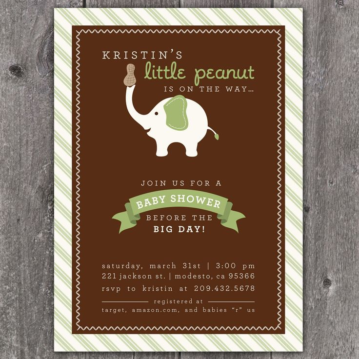 clever baby shower invitation wording%0A Little Peanut  Custom Baby Shower Invitation          via Etsy