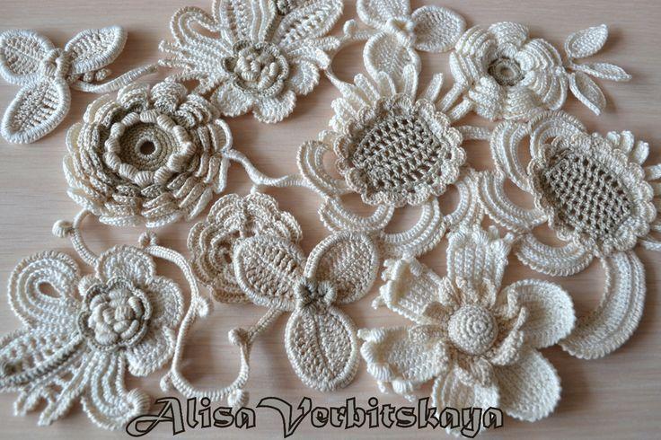 Free Irish Crochet Motif Patterns | irish crochet motifs