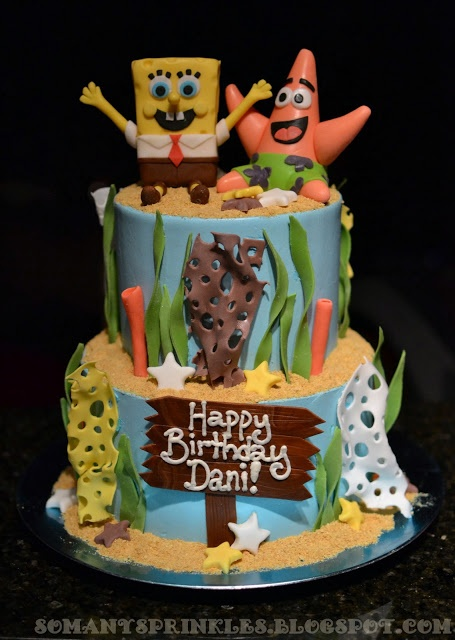 So Many Sprinkles: Spongebob Birthday Cake!