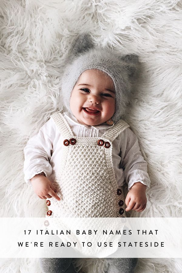 17 Italian Baby Names That We're Ready to Use Stateside via @PureWow  -character name inspiration-
