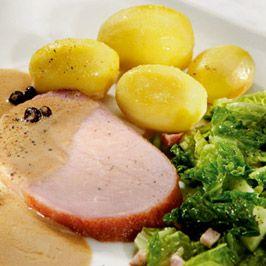 Bild für Rezept: Berliner Kasseler-Lachsbraten an Gemüse