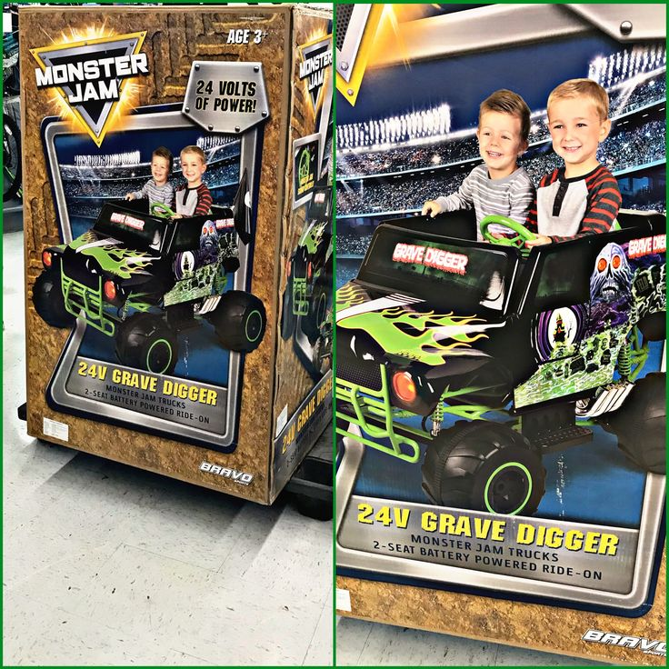 Grave Digger 24V Power! / Steel frame / Power Wheels / Battery Truck for kids / Purchased at my local Walmart / Beautiful Grave Digger Truck / my husbands all-time FAVORITE monster truck!