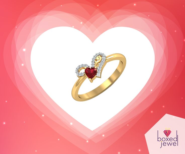 For your loved one who has her heart in the right place...   #GoldRing  #Gift  #EngagementRing