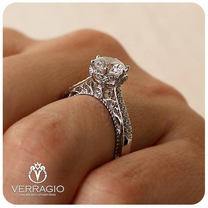 Verragio Venetian 5052 Engagement Ring Vintage Engagement Rings Engagement Rings Sapphire Rose Engagement Ring