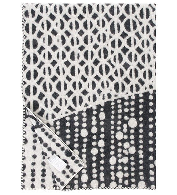 TAIVAANVALKEAT, wool blanket by Finnish interior company Lapuan Kankurit. Design: Laura Laivamaa. Web shop.