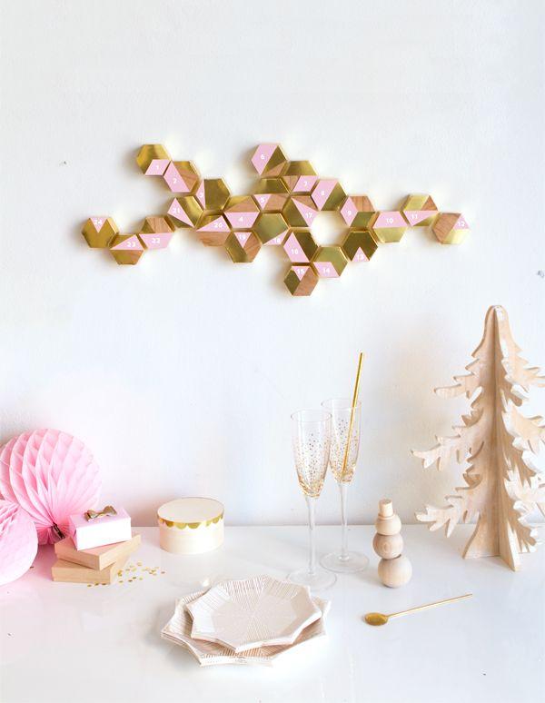 DIY Modern Hexagon Advent Calendar | Oh Happy Day!