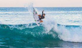 Jhony Corzo en los Juegos Mundiales de Surf