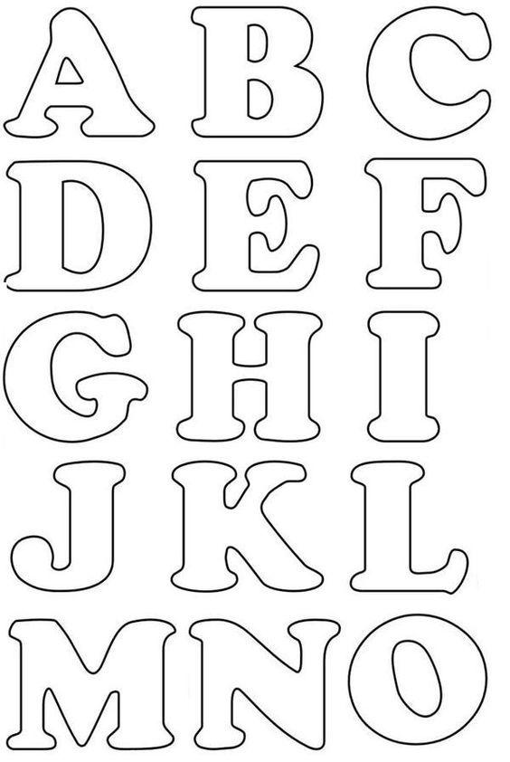 Moldes de letras del alfabeto para imprimir - Imagui: