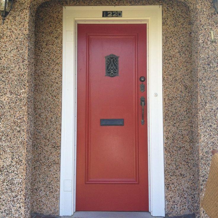 Our red front door: Benjamin Moore Caliente. & 77 best Front Doors images on Pinterest | Front door colors Doors ... Pezcame.Com