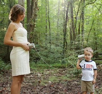 """<p>""""Our+son+wanted+a+way+to+communicate+with+his+new+brother+and+we+thought+it+would+make+a+great+announcement+photo.""""</p>"""